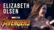 Elizabeth Olsen Live from the Avengers Infinity War Premiere