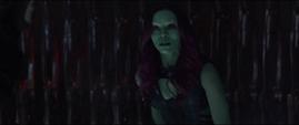 Gamora de 2014 se sorprende por la muerte de Thanos