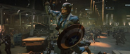 Capitan America esquivando