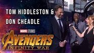 Tom Hiddleston and Don Cheadle Live at the Avengers Infinity War Premiere