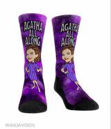Agatha All Along socks on WandaVision Merchandise