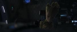 Groot sentado en el Benatar