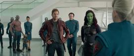Los Guardianes y Nova Corps reunidos