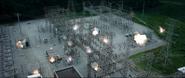 Planta eléctrica en la explosión de Zemo