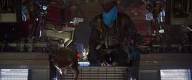 Rocket y Yondu llegan al planeta de Ego