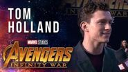 Tom Holland Live from the Avengers Infinity War Premiere