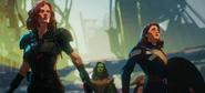 Widow, Carter, Gamora and Thor