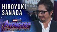 Hiroyuki Sanada joins the MCU LIVE from the Avengers Endgame Premiere