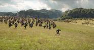 T Challa pelea al lado de los Wakandianos