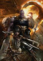 Avengers Infinity War - Póster Orden Negra