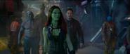 Gamora Peter Drax y Groot