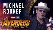 Michael Rooker Live from the Avengers Infinity War Premiere