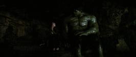 Betty y Hulk en la montaña