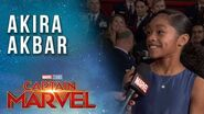 Monica Rambeau actress Akira Akbar LIVE from the Captain Marvel Red Carpet Premiere!