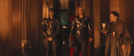 Thor y Loki antes de la coronación