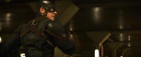 Capitán América en una persecución