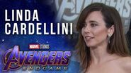 Linda Cardellini talks keeping secrets at the LIVE Marvel Studios' Avengers Endgame Premiere