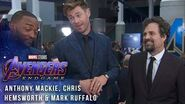 Mark Ruffalo, Chris Hemsworth & Anthony Mackie Try Not to Spoil Avengers Endgame at the Red Carpet