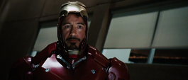 Stark antes de confrontar a Stane