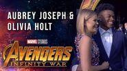 Aubrey Joseph & Olivia Holt Live from the Avengers Infinity War Premiere