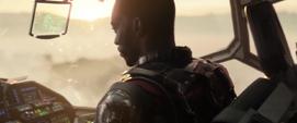Wilson dirige el Quinjet a Wakanda