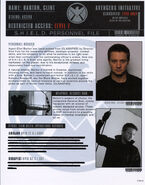 Clint Barton File