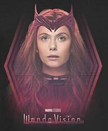 Wanda in Scarlet Witch Costume Promotional Concept Art 02