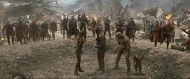 Guardianes de la Galaxia luego de luchar