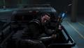 Loki en el automóvil