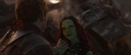 Gamora alternativa se encuentra con Quill