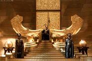 Loki on throne Thor 1