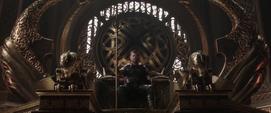 Thor en el trono de Asgard