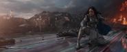 Valquiria peleando en Asgard