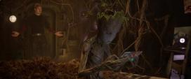 Peter habla con Groot adolescente