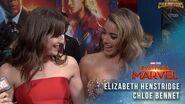 Chloe Bennet and Elizabeth Henstridge on the Captain Marvel Red Carpet