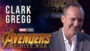 Clark Gregg Live from the Avengers Infinity War Premiere