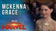 Mckenna Grace on playing a young Captain Marvel Red Carpet Premiere