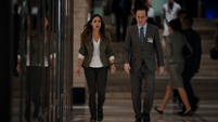 Skye y Coulson en el Hub
