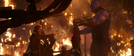 Quill apunta a Gamora