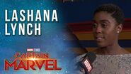 Lashana Lynch Interviewed LIVE from the Captain Marvel Red Carpet!