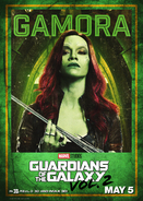 Gamora GOTG2 Poster