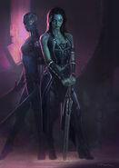 Gamora and Nebula Gotg Concept Art
