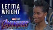 Letitia Wright reacts to Shuri getting snapped by Thanos LIVE from the Avengers Endgame Premiere