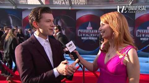 Tom Holland Talks Spider-Man on Marvel's Captain America Civil War Red Carpet Premiere