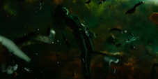 Gamora en el espacio