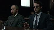 Matt Murdock y John Healy en la corte