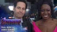 Danai Gurira and Paul Rudd Talk the Snap LIVE from the Avengers Endgame Premiere