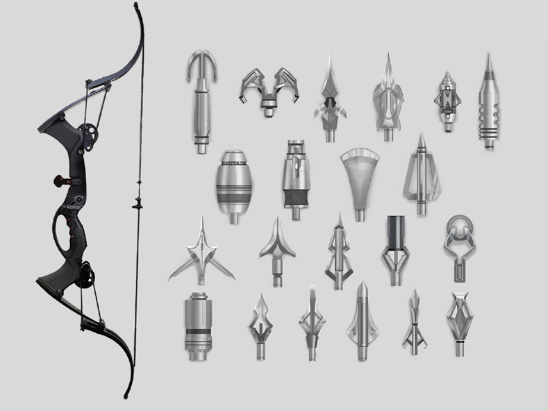 Hawkeye's Bow and Quiver