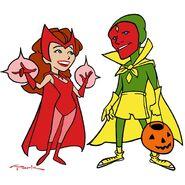 Halloween WandaVision (Art by Andy Park)