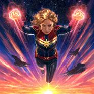 Captain Marvel flying Concept Art